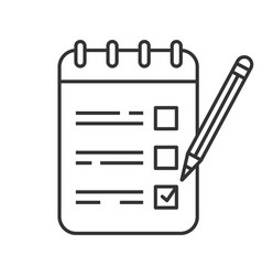 to do list linear icon vector image