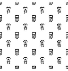 Tooth structure icon simple black style vector