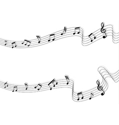 Two long music chord and shadow vector image