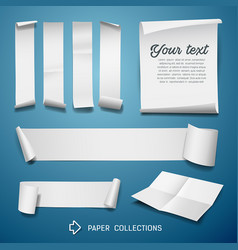 White paper roll collections for business design vector
