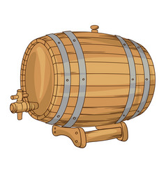 wooden barrel for wine or beer vector image