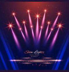 beautiful show lights background vector image