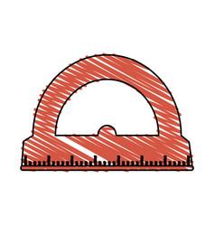 Color crayon stripe cartoon red rule conveyor for vector