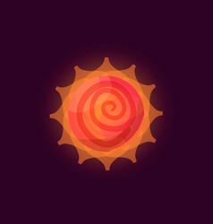 fantasy sun logo vector image vector image