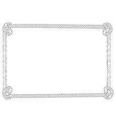 Grey rope border vector image
