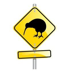 kiwi road sign vector image