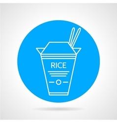 Rice box round icon vector