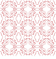seamless red pattern on a white background vector image vector image