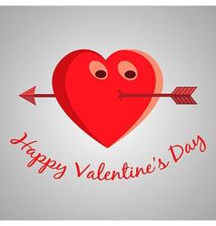 Valentine cartoon heart vector image vector image