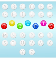 Alphabet and tablets vector image