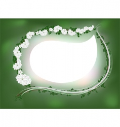 apple blossom frame vector image vector image