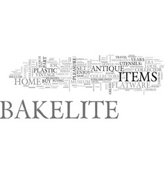 at home with bakelite text word cloud concept vector image vector image