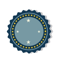 blue seal stamp vector image