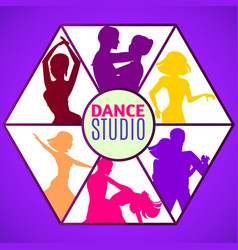 Dance studio template vector