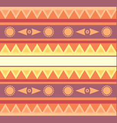 seamless geometric ethnic texture with sun for vector image