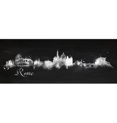 Silhouette chalk Rome vector image