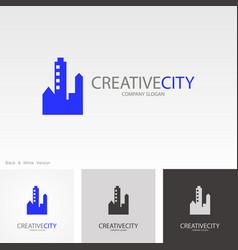 creative cityscape logo vector image vector image
