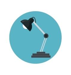 desk lamp bulb light blue background vector image vector image