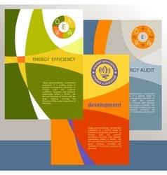 Logo energy efficiency diagram of growth vector
