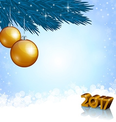 New 2017 Year numbers and Christmas decoration vector image