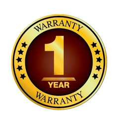 One Year Warranty Design isolated on white vector image vector image