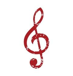 Red grunge music logo vector image