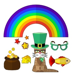 saint patrick cat vector image