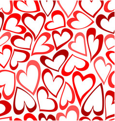 Seamless pattern with doodled hearts vector image vector image