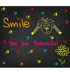Smile you are beautiful vector image