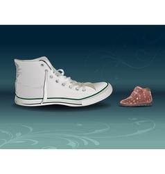 sneaker vs shoe vector image vector image