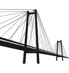 cable suspension bridge vector image
