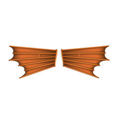 desire to fly vintage wings vector image vector image