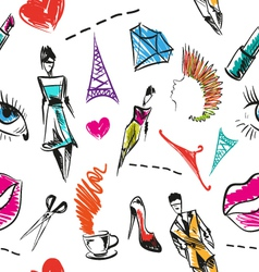 Seamless fashion pattern backgrounds vector