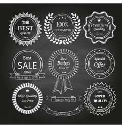 Set of hand drawn badges vector image vector image