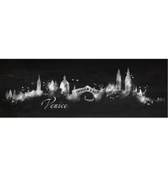 Silhouette chalk Venice vector image vector image