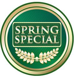 spring special icon vector image vector image