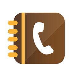 3d phone inside rings notebook vector