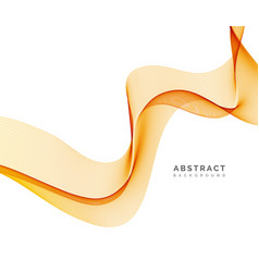 abstract background orange wavy vector image
