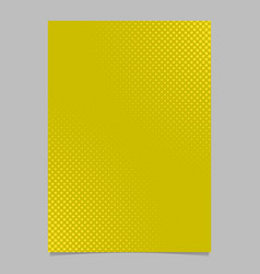 Abstract halftone dot pattern brochure cover vector