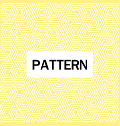 abstract overlap hexagon pattern yellow background vector image