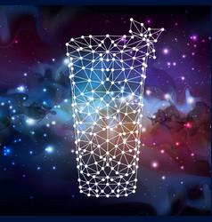 Abstract polygonal tirangle cocktail on open vector