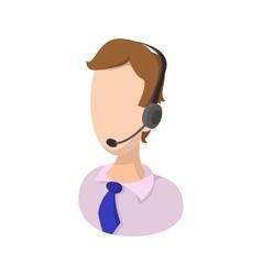Air traffic controller cartoon icon vector
