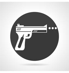 Airgun black round icon vector