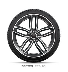 aluminum wheel car tire style sport vector image