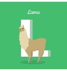 Animals Alphabet Letter - L vector image