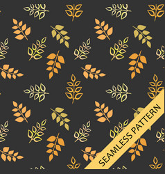 autumn leaves on a dark background vector image