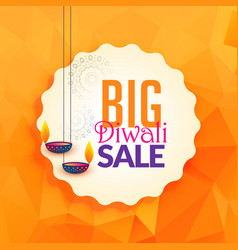 Awesome diwali lamps for festival sale background vector