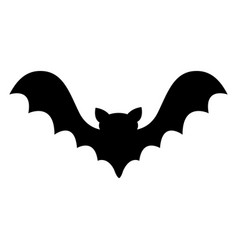 bat flying black silhouette icon cute cartoon vector image