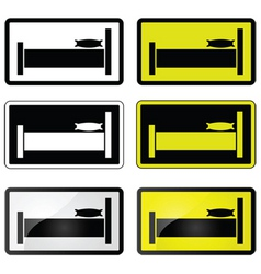 Bed sign vector
