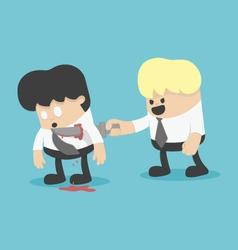 betrayal partnership on business vector image